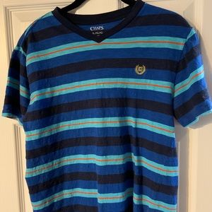 Boys Chaps Striped Tee Size Large